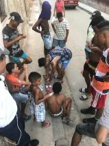kids playing dice